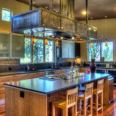 Contemporary Kitchen by Design Services Northwest Inc.