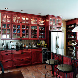 Marvelous 75 Beautiful Rustic Red Kitchen Pictures Ideas Houzz Home Interior And Landscaping Spoatsignezvosmurscom