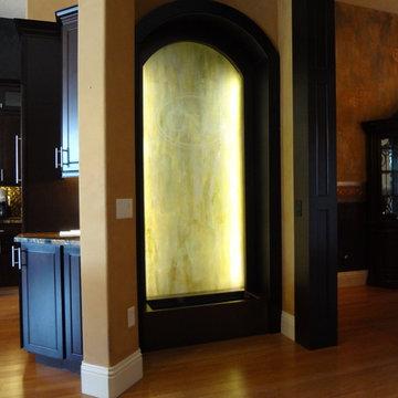 Custom Indoor Glass Water Feature - Orlando, FL