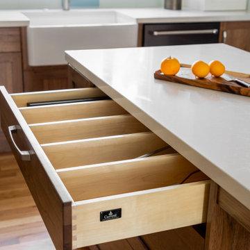 Custom Kitchen Drawer Storage and Organization