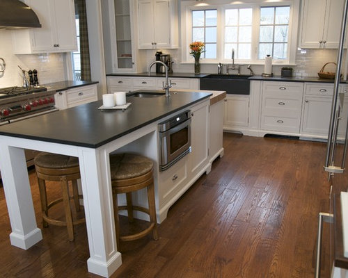 the island kitchen honed slate countertop houzz 2716