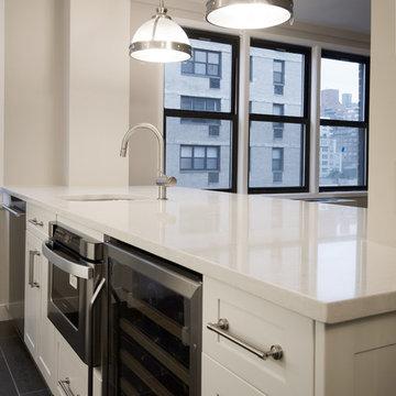 Custom Kitchen Island Table - Modern Glam Apartment Renovation