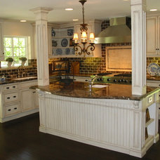 Mediterranean Kitchen by Barbara Stock Interior Design