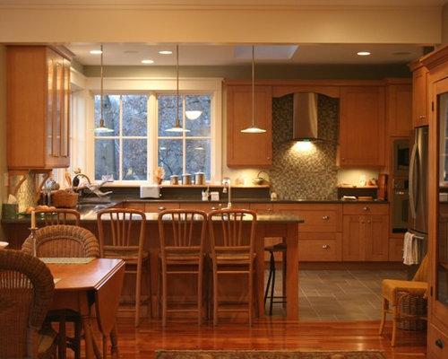 wood floor kitchen | houzz