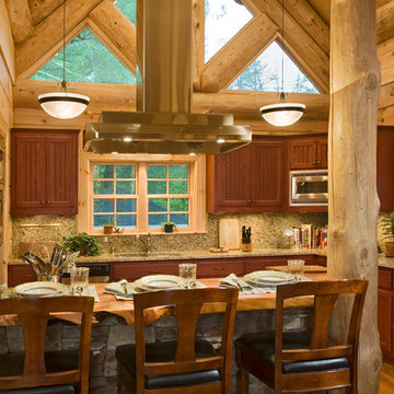Custom Kitchen with Heavy Timber accents