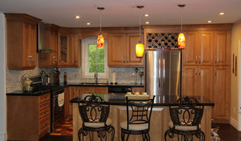 Custom Kitchen with Solid Wood Cabinets and Granite Countertop