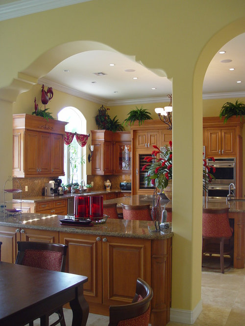 Kitchen arch houzz for Arch kitchen cabinets