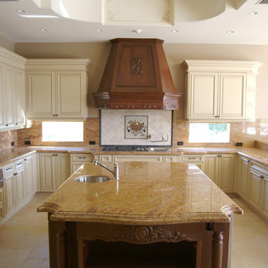 3,909 range hood Mediterranean Home Design Photos