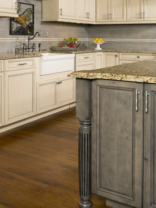 Grey stained cabinets