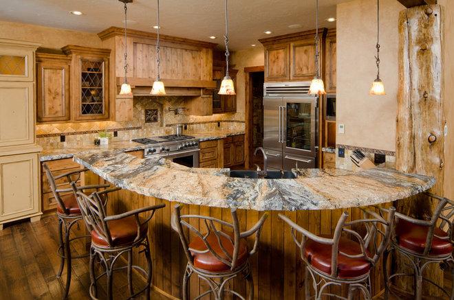 Rustic Kitchen by Patty Jones Design, LLC
