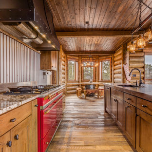 75 Beautiful Rustic Kitchen With Gray Backsplash Pictures Ideas January 2021 Houzz