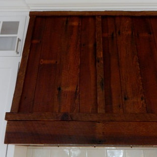 Custom made antique heart pine vent hood