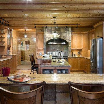 Custom Northern Maine Log Home Estate