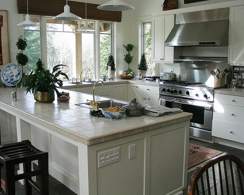 Small Asian Eat In Kitchen Remodeling Galley