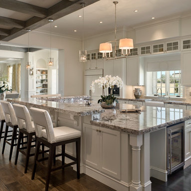 Kitchen Design Ideas, Remodels & Photos with an Island, White Cabinets ...