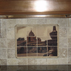 Mediterranean Kitchen by Pacifica Tile Art Studio