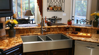 Custom Triple-Bowl Stainless Steel Kitchen Sink
