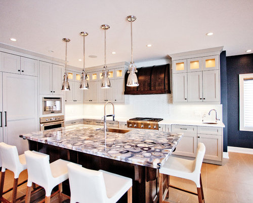 how to do a backsplash in a kitchen agate countertop houzz 9729