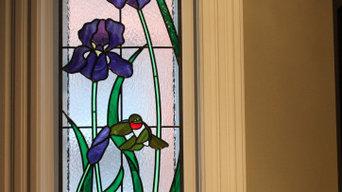 Custom Window - Purple Irises