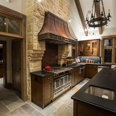 Rustic Kitchen by Stephen B. Chambers Architects, Inc.