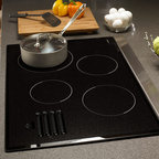 "Dacor Discovery 30"" Electric Glide Cooktop, Black Glass W/ Satin Trim 