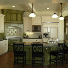 Eclectic Kitchen by Kliss Cabinets