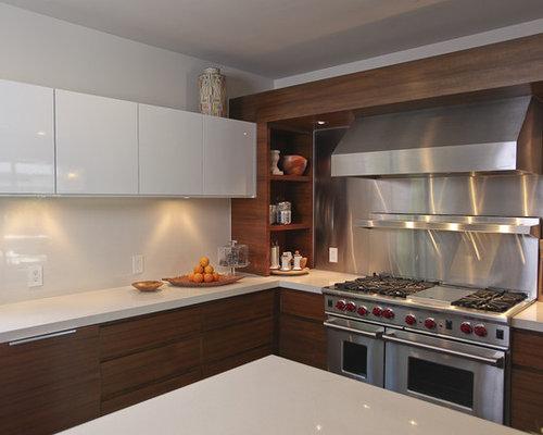 No upper cabinets backsplash home design ideas pictures for Bella cucina kitchen cabinets