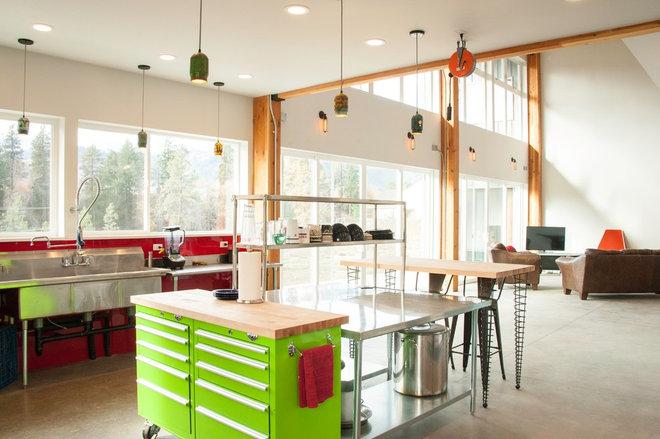 Modern Kitchen by Spiral Cone Legs