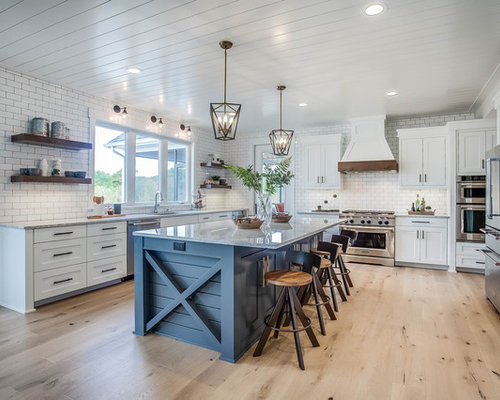 50 Best Farmhouse Kitchen with Stainless Steel Appliances Pictures White Shaker Farmhouse Kitchen Designs on shaker transitional kitchen, shaker barn, shaker dining room, shaker contemporary kitchen, shaker cottage kitchen, shaker traditional kitchen, shaker bedroom, shaker homes, shaker living room,