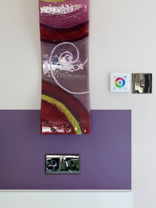 Purple kitchen design ideas renovations photos with an for Vinyl window designs ltd complaints