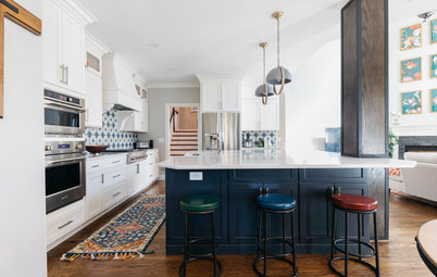 A Kitchen Opens Up and Gains a Focal Point