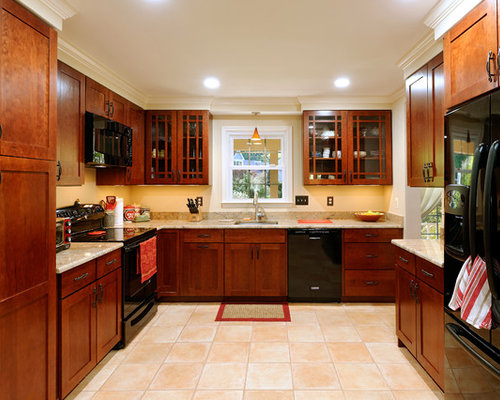 dark kitchen cabinets with black appliances black appliances home design ideas pictures remodel and 14467