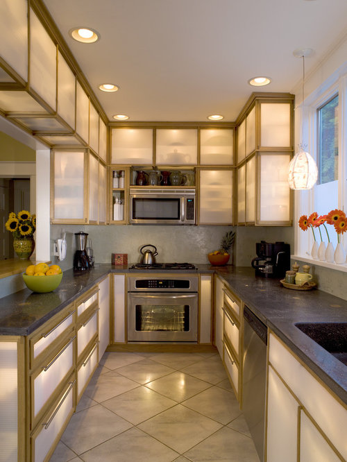 Awesome Example Of A Trendy Kitchen Design In Other With Stainless Steel Appliances