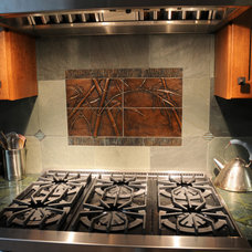 Asian Kitchen by Artistic Stone Design