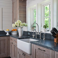 Beach Style Kitchen by Shelter Interiors llc