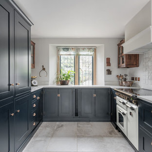 Dark Blue Bespoke Shaker Kitchen