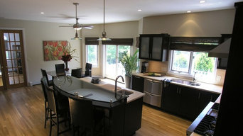 Dark Cherry Transitional Kitchen - Wyckoff, NJ