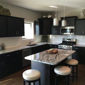 Dark Espresso Shaker Kitchen Cabinets w/ Soft Close by Everyday Cabinets