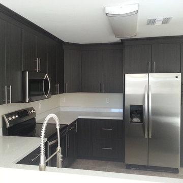 Dark Gray Cabinet Kitchen