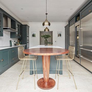 Dark Green Modern Kitchen