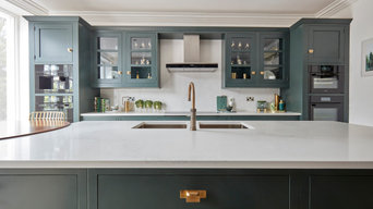 Dark Green Modern Kitchen