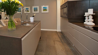 Dark Grey Concrete Wall Panel & Flooring