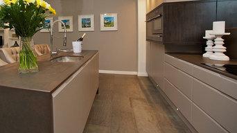 Dark Grey Concrete Wall Panel & Flooring