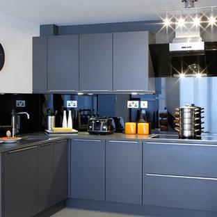 Dark grey industrial kitchen