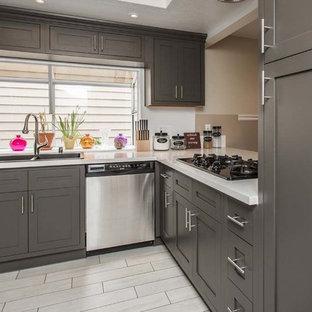 Dark Grey Inset Shaker Cabinets D3