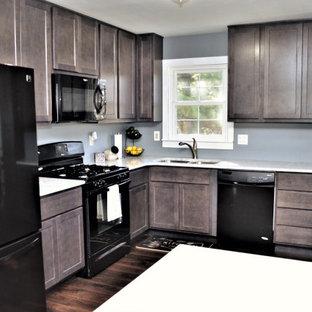 Dark Grey Maple Kitchen. BaileyTown USA. Portage, IN