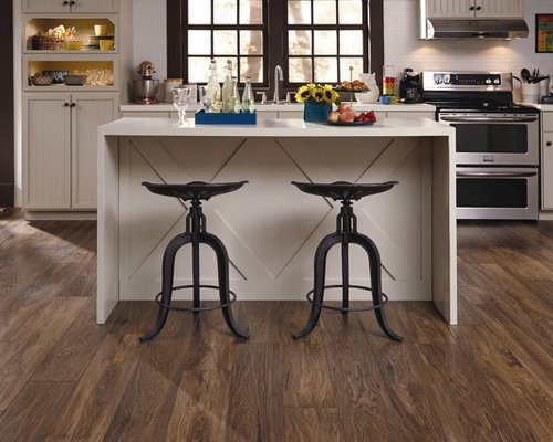 Eat In Kitchen   Transitional Single Wall Dark Wood Floor Eat In Kitchen