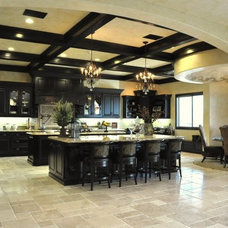 Mediterranean Kitchen by Norm Tessier Cabinets, Inc.