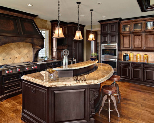 open kitchen cabinets mixed wood cabinets houzz 1203