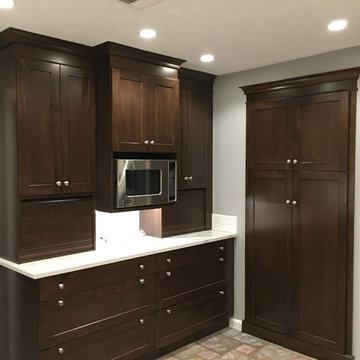Dark Shaker Cabinets Aren't Just Pretty - They are Functional As Well